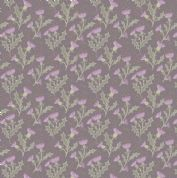 Lewis & Irene - Celtic Reflections - 5934 - Purple Thistles,  Metallic Gold - A336.3 - Cotton Fabric
